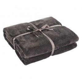 Tmavě šedá deka z mikrovlákna DecoKing Henry, 240x220cm