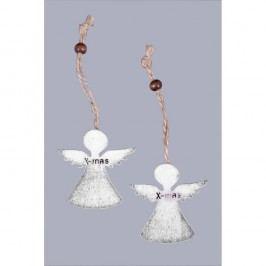 Sada 6 vánočních ozdob ve tvaru andělíčků Ego Dekor