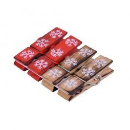 Sada 4 dekorativních kolíčků s dekorem vloček Ego Dekor