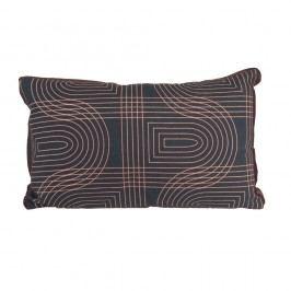 Černý polštář PT LIVING Retro, 50x30cm