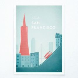 Plakát Travelposter San Francisco, A2