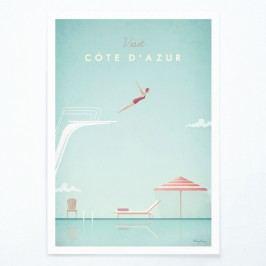 Plakát Travelposter Côte d'Azur, A2