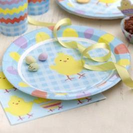 Sada 8 papírových talířů Neviti Easter Chick