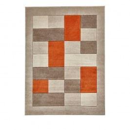 Béžovooranžový koberec Think Rugs Matrix, 60x120cm