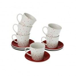 Sada 6 hrnečků na čaj s podšálkem VERSA Tea