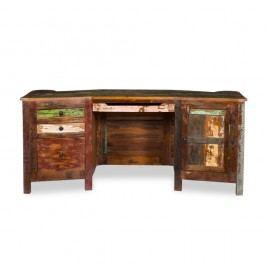 Psací stůl  z recyklovaného dřeva Woodking Colour