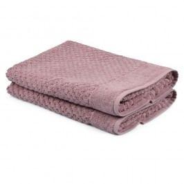 Sada 2 světle růžových ručníků Beverly Hills Polo Club Mosley, 50x80cm