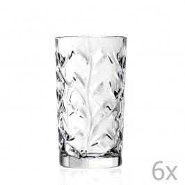 Sada 6 křišťálových sklenic RCR Cristalleria Italiana Abelie, 360ml