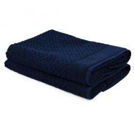 Sada 2 tmavě modrých ručníků ze 100% bavlny Mosley, 50x80cm