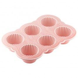 Růžová forma na muffiny Ladelle Bake