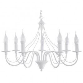 Bílé závěsné svítidlo Nice Lamps Floriano 7