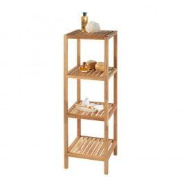Koupelnový regál z ořechového dřeva se 3 policemi Wenko Norway