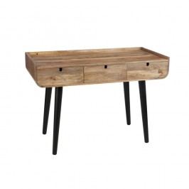 Pracovní stůl se šuplíky z mangového dřeva J-Line Vinto