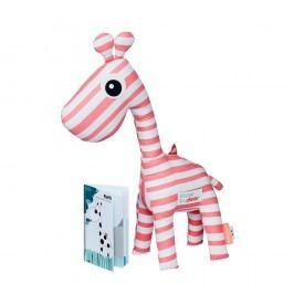 Růžová hračka Done by Deer Raffi Booklet