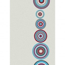 Bílý koberec Universal Boras Circles, 133x190cm