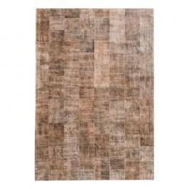 Světle hnědý koberec z pravé kůže Fuhrhome Ankara, 120x180cm