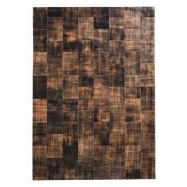 Hnědý koberec z pravé kůže Fuhrhome Cairo, 120x180cm
