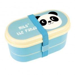 Modrý obědový bento box Rex London Miko The Panda