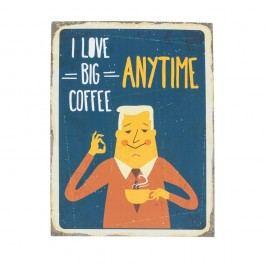 Nástěnná cedule Novita Big Coffee, 30x40cm