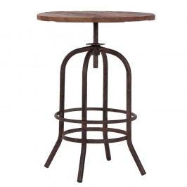 Příruční stolek z kovu a dřeva VICAL HOME, 60 x 72 cm