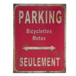 Kovová cedule Antic Line Parking, 25 x 33 cm