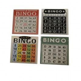 Sada 4 podtácků na skleničky Antic Line Bingo
