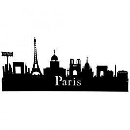Nálepka na stěnu Antic Line Paris