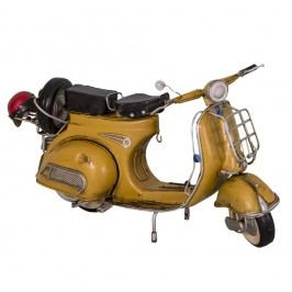 Dekorativní skútr Antic Line Yellow Scooter