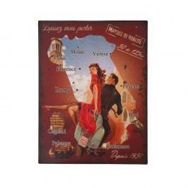 Kovová cedule Antic Line Carte Italie, 25 x 33 cm