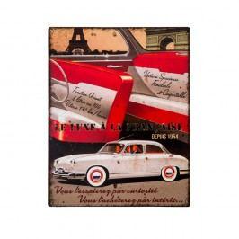 Kovová cedule Antic Line Le Luxe a la Francaise, 22 x 28 cm