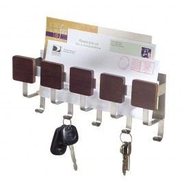Nástěnný držák na klíče s přihrádkou na dopisy iDesign Fombu