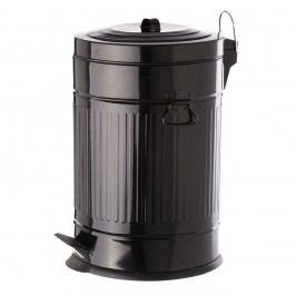 Černý pedálový kovový odpadkový koš Unimasa, 20 l