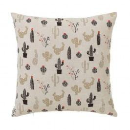 Béžový polštář s motivem kaktusů Unimasa, 45 x 45 cm