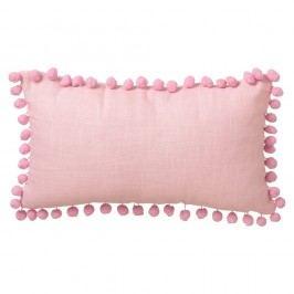 Růžový polštář Unimasa Pompon, 50 x 30 cm