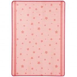 Dětský růžový koberec koberec Zala Living Stars & Hearts,100x140cm