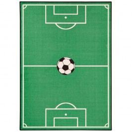 Dětský zelený koberec Zala Living Football,140x200cm