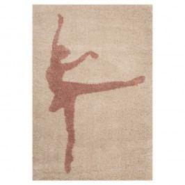 Dětský hnědý koberec Zala Living Ballerina,120x170cm