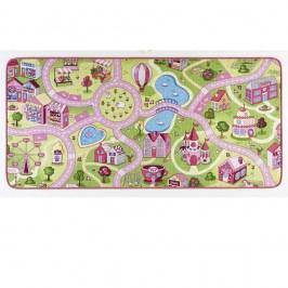 Dětský koberec s růžovými detaily Hanse Home City, 90x200cm