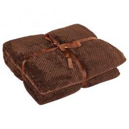 Hnědá deka z mikrovlákna DecoKing Henry, 220x240cm