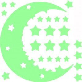 Sada nástěnných svítících dětských samolepek Ambiance Moon and Stars