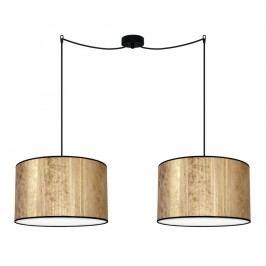 Dvojité stropní světlo v měděné barvě s černým kabelem Bulb Attack Tres, 1,1 m