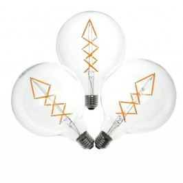 Sada 3 LED žárovek Bulb Attack BUBBLE Lattice, 6,5 W