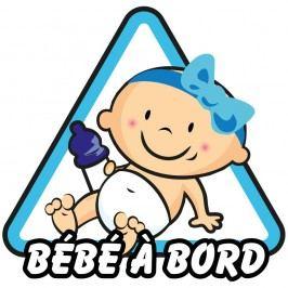Modrá samolepka na auto Ambiance Dítě v autě