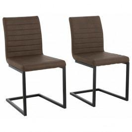 Sada 2 tmavě hnědých  jídelních židlí Støraa Sandra
