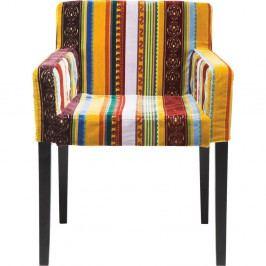 Barevná židle s područkami Kare Design Very British