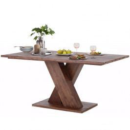 Tmavě hnědý jídelní stůl z masivního akáciového dřeva Støraa Cong, 1x2m