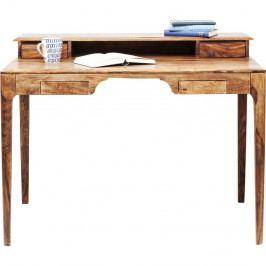 Hnědý pracovní stůl z exotických dřevin Kare Design Brooklyn