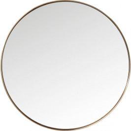 Kulaté zrcadlo s rámem v měděné barvě Kare Design Round Curve, ⌀100cm