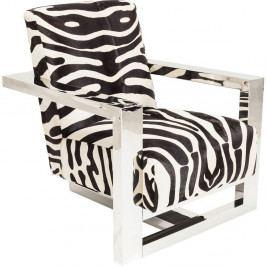Křeslo s potahem se zebrovaným vzorem Kare Design Wildlife Zebra