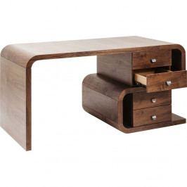Hnědý dřevěný pracovní stůl Kare Design Snake Walnut, 150x76cm